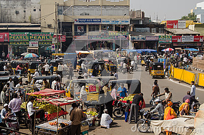 Charminar market, Hyderabad Editorial Photography