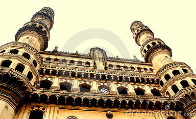 Charminar view, Hyderabad, India