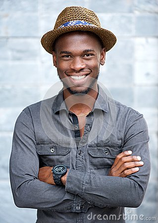 Free Charming African American Man Smiling With Hat Royalty Free Stock Photo - 50038455