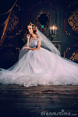 Free Charming Bride Woman Stock Image - 105807571