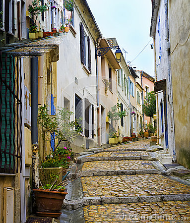 Charming, Colorful Street, Arles France