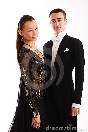 A charming  dance pair in good-looking suits