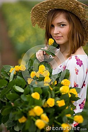 Charming gardener