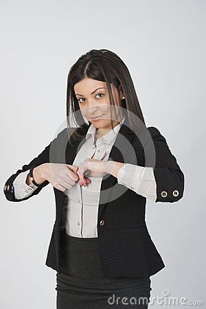 Charming girl with suit