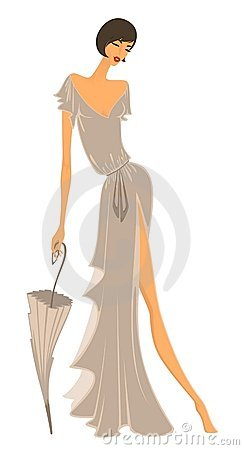 Charming Lady In A Dress Stock Images - Image: 16420904