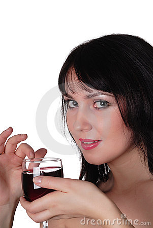 charming lady holding glass wine 13233563