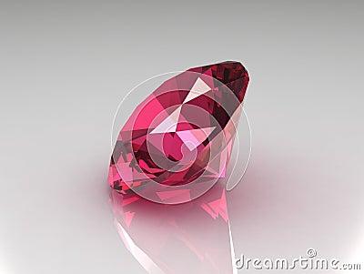 Charming Round Garnet Gemstone -3D