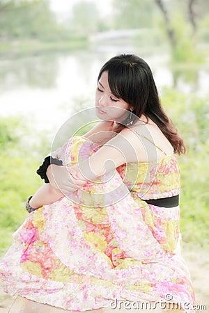 Charming summer girl