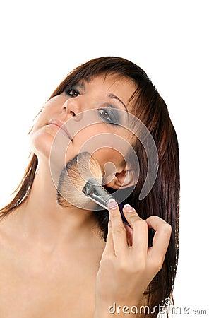 Charming woman, makeup