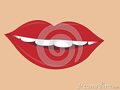 Charming women lips