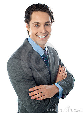 Free Charming Young Businessman Posing In Style Stock Photography - 24140422