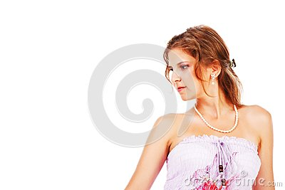 Charming young girl in dress stock image image 16693801 - Charming teenage girls image ...