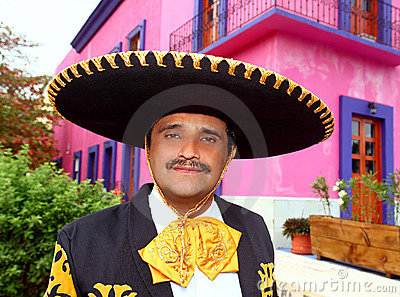 Charro Mexican Mariachi Portrait In Pink House Royalty Free Stock Photography - Image: 20672817