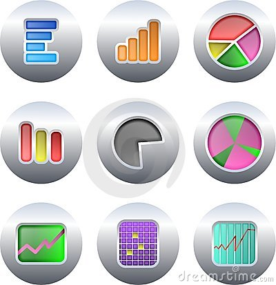 Free Chart Buttons Royalty Free Stock Photos - 3614258
