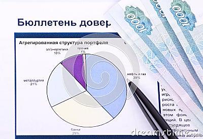 Chart, money,  pen