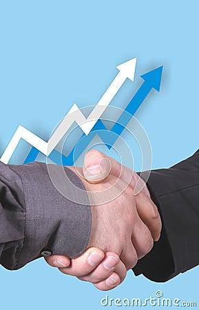 Free Chart With Handshake Royalty Free Stock Photo - 166695