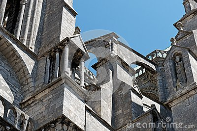Chartres Cathedral buttress detail 02