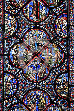Chartres - Cathedral, stained glass