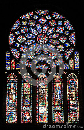 Free Chartres - Cathedral, Stained Glass Window Stock Photo - 26656600