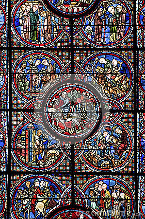 Free Chartres - Cathedral, Stained Glass Window Royalty Free Stock Photos - 26656608
