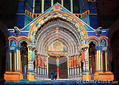 Chartres illumination Editorial Image