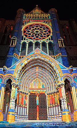 Chartres illumination Editorial Image