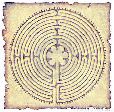 Free Chartres Labyrinth Parchment Stock Images - 3320964