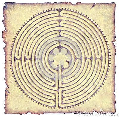 Chartres Labyrinth Parchment