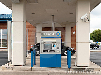 CHASE Bank Drive-Thru Editorial Stock Image