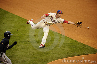 Chase Utley Editorial Photo