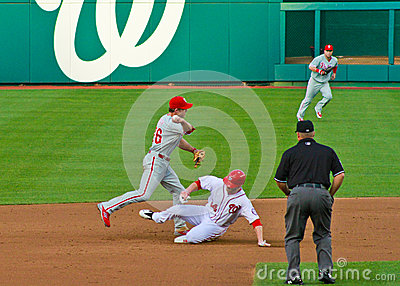 Chase Utley and Bryce Harper Editorial Photo
