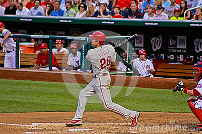 Chase Utley Philadelphia Phillies Editorial Photo