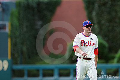 Chase Utley - Philadelphia Phillies - bp Editorial Stock Image