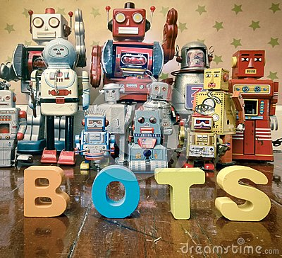 Free Chat Bot Robots Stock Photo - 105505750