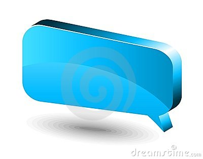 Chat box. Blue