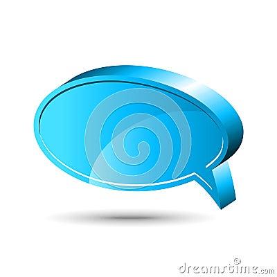 Chat box. Blue