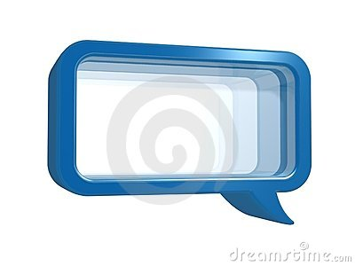 Chat frame with glass