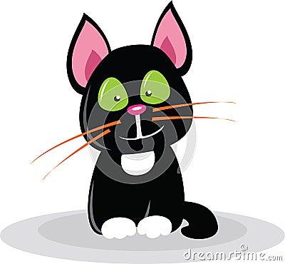 Chat noir de dessin animé