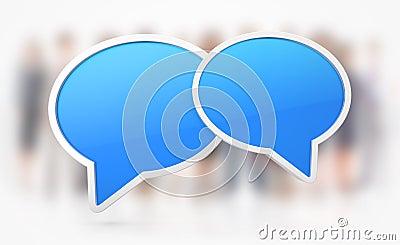 Chat or Speech symbols
