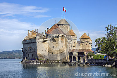 Chateau Chillon - Switzerland Editorial Stock Photo