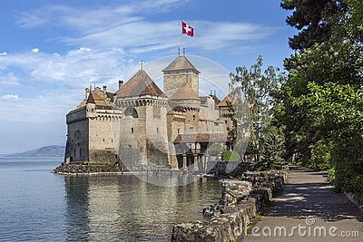 Chateau Chillon - Switzerland Editorial Image