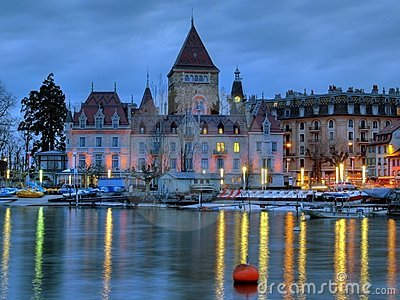 Chateau d Ouchy, Lausanne, Switzerland