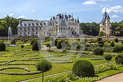 Chateau de Chenonceau- Loire Valley - France. Editorial Stock Image