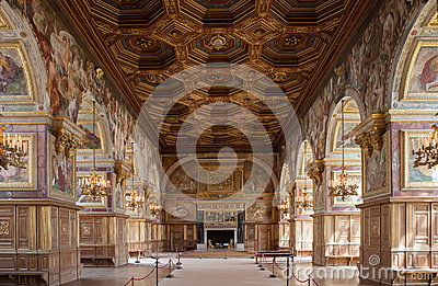 Chateau de Fontainebleau, France, interiors details Editorial Photo
