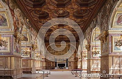 Chateau de Fontainebleau, France, interiors details Editorial Photo