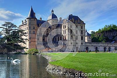 chateau de vizille near grenoble france royalty free stock photos image 9233248. Black Bedroom Furniture Sets. Home Design Ideas