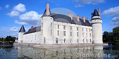Chateau and Moat, France
