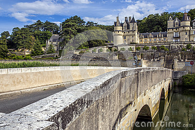 Chateau Usse - Loire Valley - France Editorial Stock Image