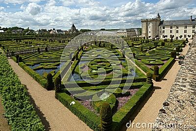 Chateau van villandry en zijn tuin frankrijk royalty vrije stock afbeeldingen afbeelding - Tuin decoratie buitenkant ...