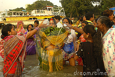 Chatt Festival In India. Editorial Stock Photo